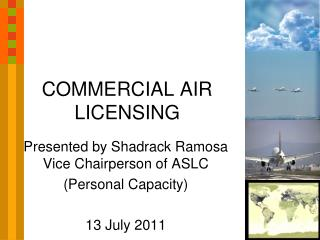 COMMERCIAL AIR LICENSING