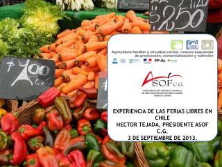 EXPERIENCIA DE LAS FERIAS LIB RES EXPERIENCIA DE LAS FERIAS LIBRES EN CHILE