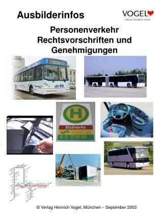 Personenverkehr Rechtsvorschriften und Genehmigungen