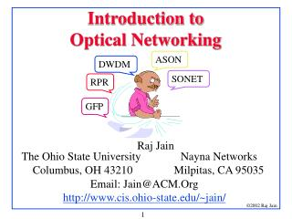 Introduction to  Optical Networking
