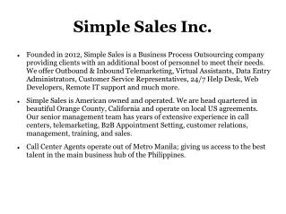 B2B Appointment Setting | Philippines BPO | Customer Service