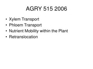 AGRY 515 2006