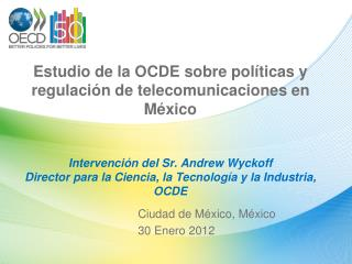 Ciudad de México, México 30 Enero 2012