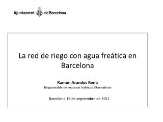 Barcelona 15 de septiembre de 2011