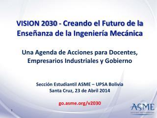 VISION 2030 -  Creando el Futuro de la Enseñanza de la Ingeniería Mecánica