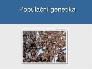 Po pula ční genetika
