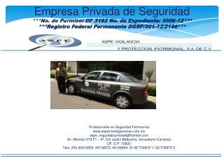 Profesionales en Seguridad Patrimonial aspeinvestigaciones.mx