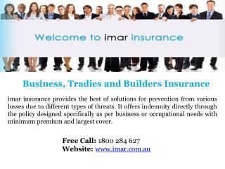 General Business & Builder Insurance Provider in Australia