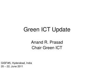 Green ICT Update
