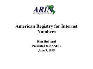 American Registry for Internet Numbers