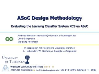 ASoC Design Methodology
