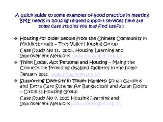 Housing for older people from the Chinese Community  in Middlesbrough – Tees Valley Housing Group