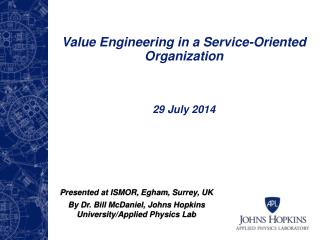 Value Engineering in a Service-Oriented Organization