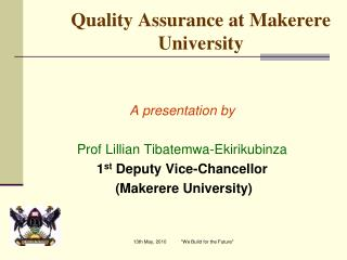 Quality Assurance at Makerere University