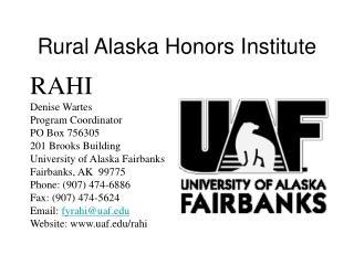 Rural Alaska Honors Institute