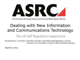 Dealing with New Information and Communications  Technology