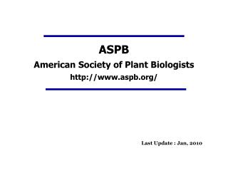 ASPB American Society of Plant Biologists aspb/
