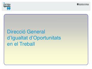 Direcci  General  d Igualtat d Oportunitats  en el Treball