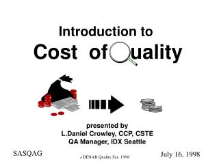 Cost  of    uality