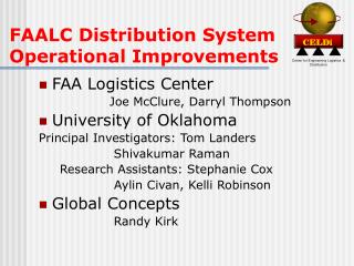 FAALC Distribution System Operational Improvements