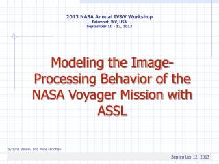 Modeling the Image-Processing Behavior of the NASA Voyager Mission with ASSL