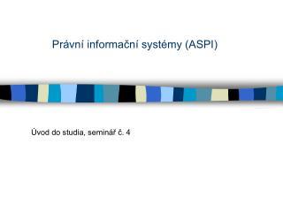 Právní informační systémy (ASPI)