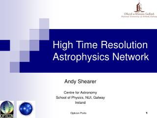 High Time Resolution Astrophysics Network
