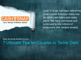 7Ultimate Tips for Couples to Tackle Debt