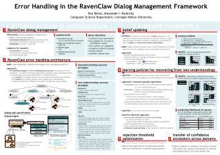 Error Handling in the RavenClaw Dialog Management Framework Dan Bohus, Alexander I. Rudnicky
