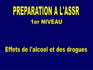 PREPARATION A L'ASSR