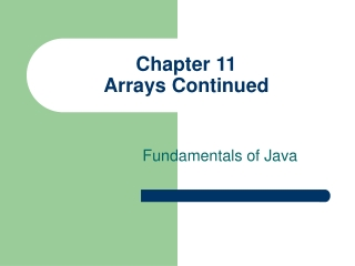 Arrays and ArrayLists in Java