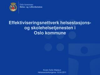 Effektiviseringsnettverk helsestasjons- og skolehelsetjenesten i  Oslo kommune