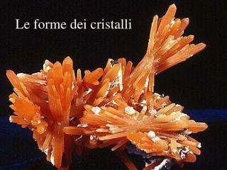 Le forme dei cristalli