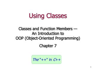 Using Classes