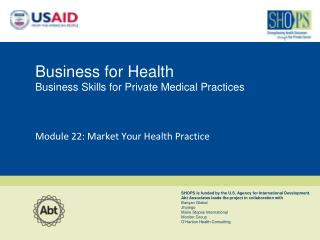 Business for Health  Business Skills for Private Medical Practices