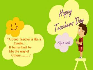 Send happy teachers day greating with flowers to hyderabad