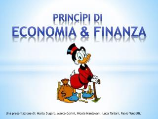 PRINCìPI di  Economia  &  Finanza