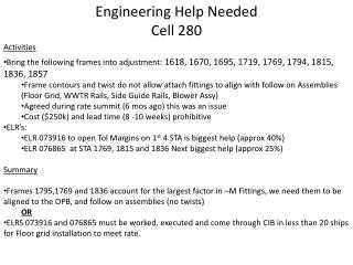 Engineering Help Needed Cell 280