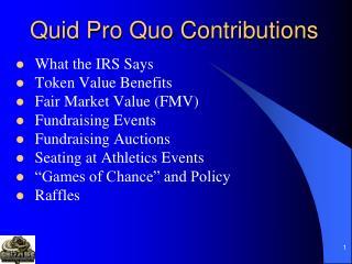 Quid Pro Quo Contributions