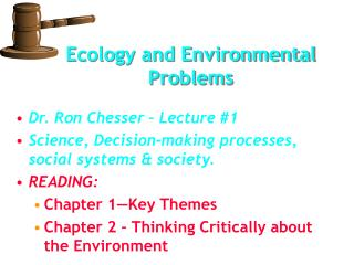 Ecology and Environmental Problems