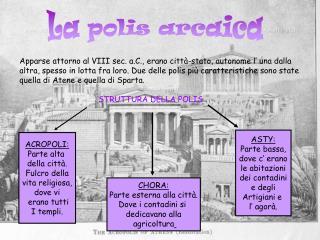 La polis arcaica