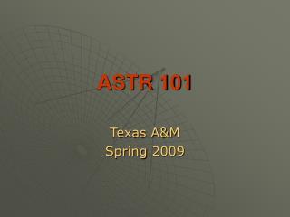 ASTR 101