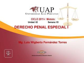 Mg. Luis Wigberto Fern�ndez Torres