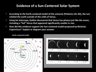 Evidence of a Sun-Centered Solar System