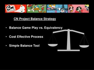CN Project Balance Strategy Balance Game Play vs. Equivalency Cost Effective Process