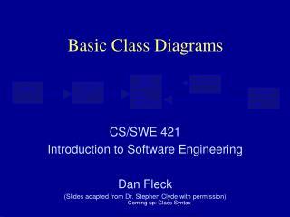 Basic Class Diagrams