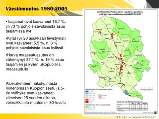 Väestömuutos 1980-2005