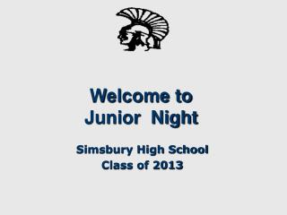 Welcome to Junior  Night