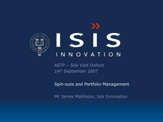 Isis Innovation - technology transfer