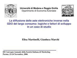 Elisa Martinelli, Gianluca Marchi